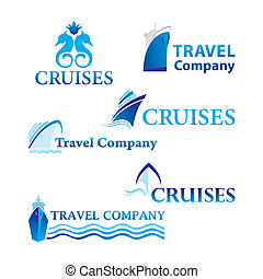 travel-cruises - Travel and Cruises. Set of corporate vector...