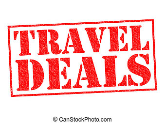 TRAVEL DEALS red Rubber Stamp over a white background.