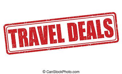Travel deals stamp - Travel deals grunge rubber stamp on...