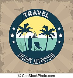 Travel design.  Tourism icon. vintage illustration.
