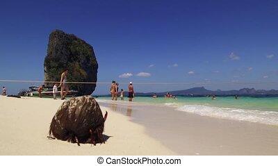 Travel destination - Ao Phra Nang Bay, Ko Poda Island, Krabi Province, Thailand, Southeast Asia, Asia - January 24, 2020