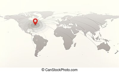 Travel And Journey World Map With Point Mark Airplane Route Diagram - World map to mark travels