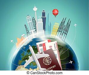 Travel Destination Concept Vector Illustration