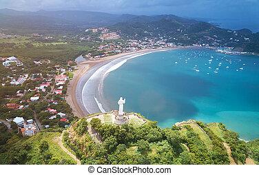 Travel destination in Nicaragua. San Juan del sur panorama...