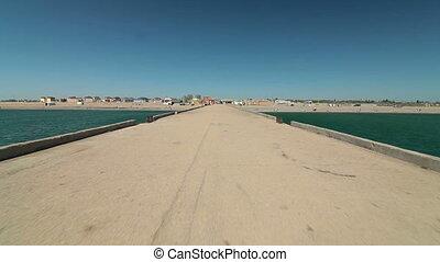 Travel Destination - Summer Beach - Driving car along the...