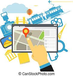 Travel destination vector illustration