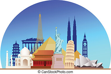 Travel destination - Vector illustration of travel ...