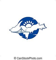 Travel Destinations - Travel destinations logo with...