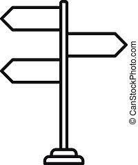 Travel directions icon, outline style