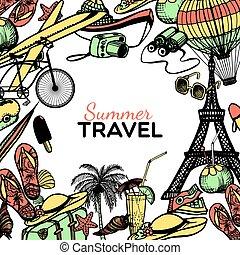 Travel Doodle Frame
