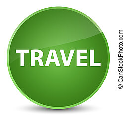 Travel elegant soft green round button