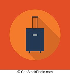 Travel Flat Icon. Luggage