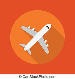 Travel Flat Icon. Plane