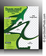 Travel Flyer Template vector