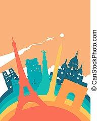 Travel France world landmark landscape