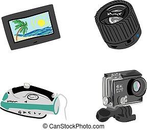 Travel Gadgets Vector Set