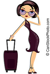 Travel GIrl - Travel Girl with Clipping Path