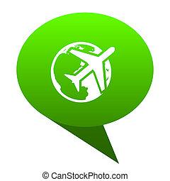 travel green bubble icon
