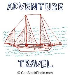 Travel hand drawn sketch for design