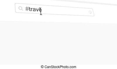 Travel hashtag search through social media posts