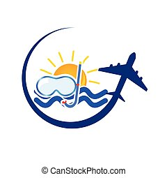 travel icon color vector illustration