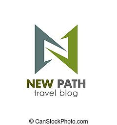 Travel icon for tourism and vacation trip design