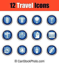 Travel icon set.