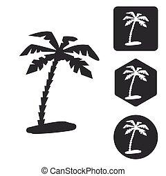 Travel icon set, monochrome