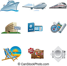 Travel icon set - Travel and tourism icon set