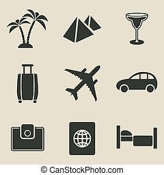 Travel icon set - vector illustration