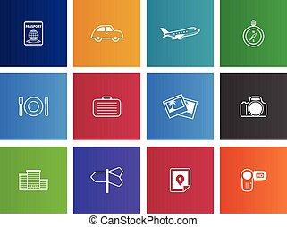 Travel Icons - Travel icon series in Metro style.