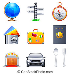 Travel icons. - Set of 9 travel icons.