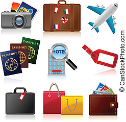 Travel Icons - Set of icons relating to travel and tourism