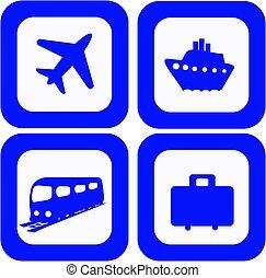 Travel icons set - Set of 4 Travel design elements