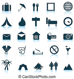 travel icons set - Travel set of different vector web icons
