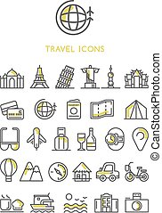 Travel Icons set vector design