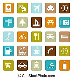Travel Icons - Travel related icons (ready for repeat...