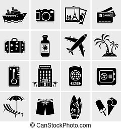 Travel icons - Vector