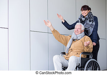 Travel in a wheelchair