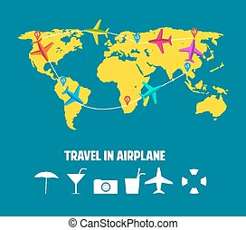 travel in airplane