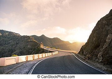 Travel in Anaga mountains.