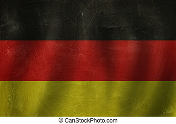 Travel in Germany concept with Germany flag background