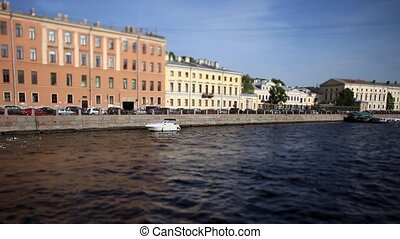 Travel in St. Petersburg Film Tilt - view of the Fontanka...