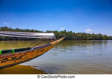 Travel in the native boat