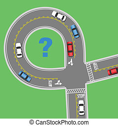 Travel information cars road street