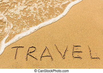 Travel - inscription by hand