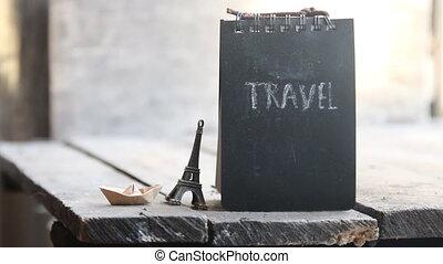Travel inscription. Travel the world idea.