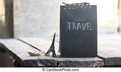 Travel inscription. Travel the world idea.
