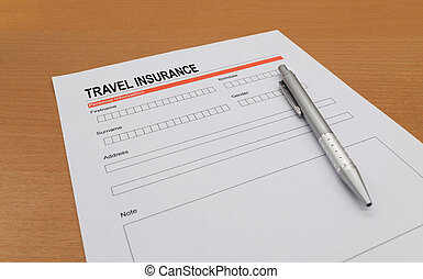 travel Insurance application form