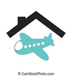travel insurance concept icon